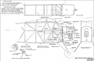 Comet Clipper 71in model airplane plan