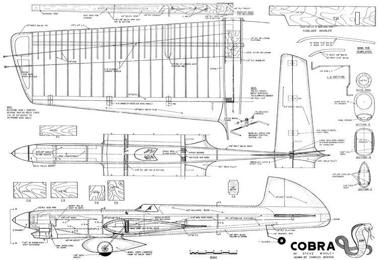 Cobra model airplane plan
