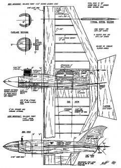 Com-Bat model airplane plan