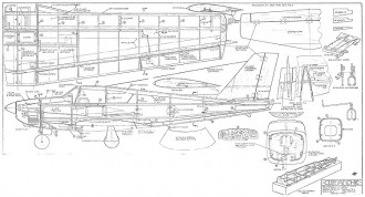 Comanche 72in model airplane plan