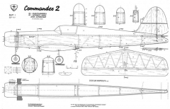 Commander 2 model airplane plan