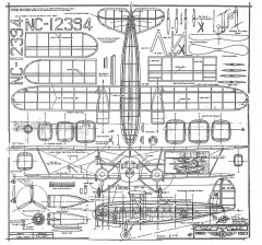 Condor Airliner model airplane plan