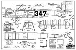 Consolidated PT-1 RCM-216 model airplane plan