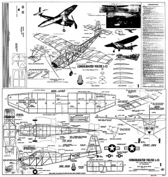 Consolidated Vultee L-13 Whitman model airplane plan