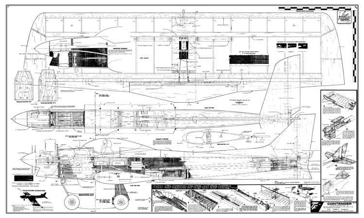 Contender bmp model airplane plan