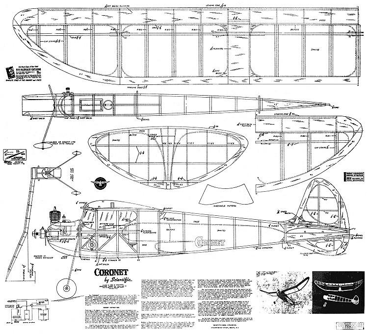 Coronet Scientific 1941 model airplane plan