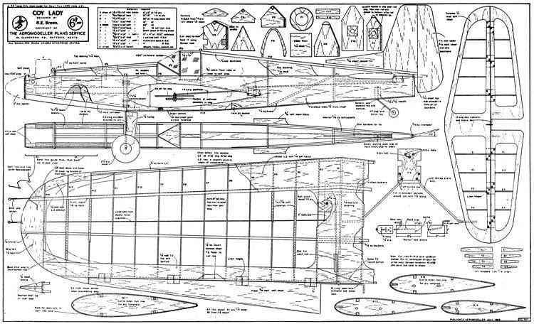 Coy Lady model airplane plan