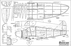 Culver Cadet RCM-454 model airplane plan