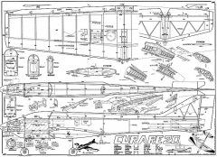 Curare 20 43in model airplane plan