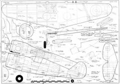 Curtiss P-36 Hawk model airplane plan
