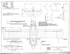 Curtiss-Cox Texas Wildcat model airplane plan