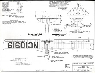 Curtiss-Wright CW-1 Junior model airplane plan