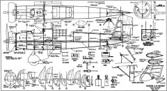 Curtiss A-12 Shrike 66in model airplane plan