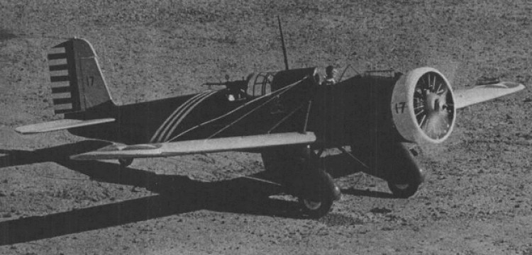 Curtiss A-12 Shrike model airplane plan