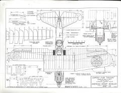 Curtiss A3B Falcon model airplane plan