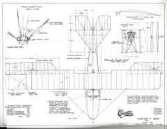 Curtiss F-Boat model airplane plan