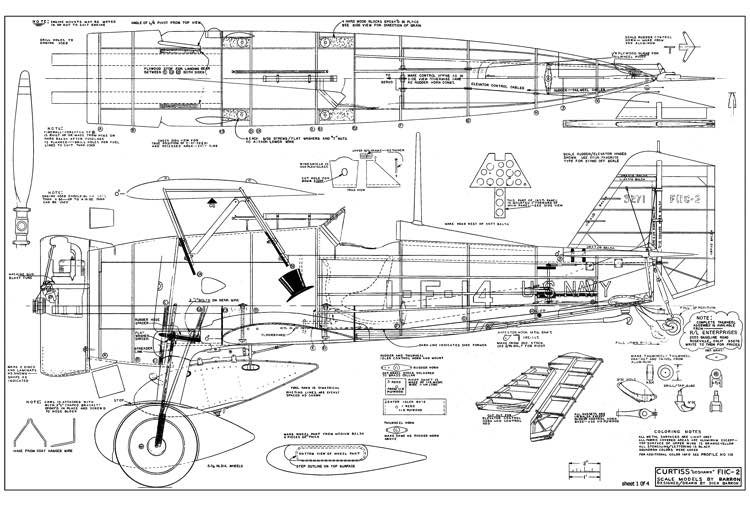 Curtiss F11C-2 Goshawk model airplane plan