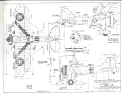 Curtiss F9 C-2 Sparrowhawk model airplane plan