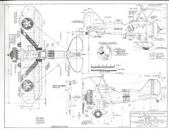 Curtiss F9 C-2 Sparrowhawk model airplane plan