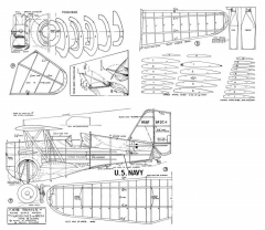 Curtiss P-6 Type III Hawk model airplane plan