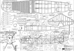 """Curtiss Hawk AE-3 """"Page Racer"""" model airplane plan"""