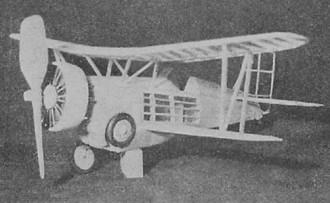 Curtiss Hawk BF2C-1 model airplane plan