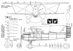 Curtiss Hawk P-6E 2 model airplane plan