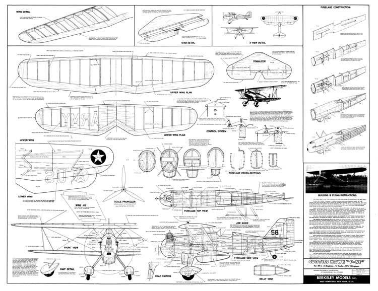 Curtiss Hawk P-6E model airplane plan