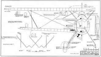 Curtiss Hawk P6E model airplane plan