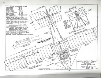 Curtiss MF 6K Seagull model airplane plan