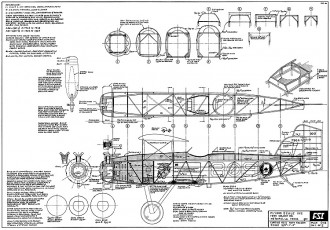Curtiss O-C2 Navy Falcon FSI model airplane plan