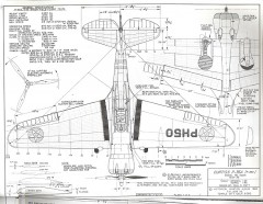 Curtiss P-36 A model airplane plan