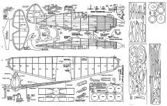 Curtiss P-40C Doug McHard 20in model airplane plan