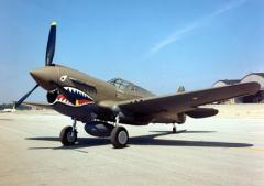 Curtiss P-40 Kittyhawk model airplane plan