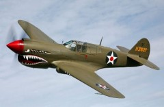 Curtiss P-40 model airplane plan