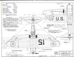 Curtiss P6-E Hawk model airplane plan