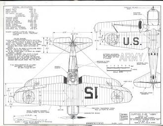 Curtiss P6-E Hawk model airplane plan