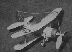 Curtiss SBC-3 model airplane plan