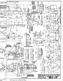 Curtiss SBC-3 Scout Bomber model airplane plan