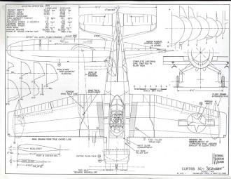 Curtiss SC-1 Seahawk model airplane plan