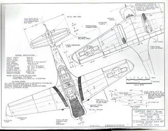 Curtiss SNC-1 Falcon model airplane plan