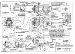 Curtiss Seahawk  F7C-1 model airplane plan
