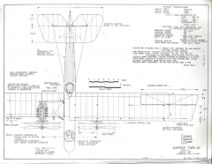 Curtiss Twin JN model airplane plan