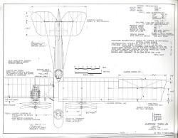 Curtiss Twin JN model airplane plan
