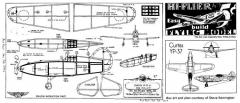 Curtiss YP-37 model airplane plan
