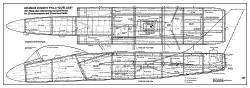 Cutlass model airplane plan