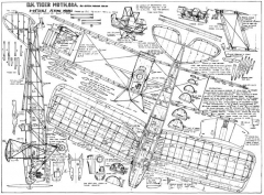 DH-82A Tiger Moth model airplane plan