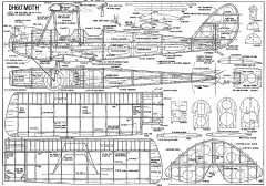 DH60 Moth model airplane plan