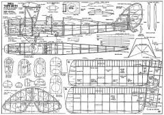 DH82A Tiger Moth model airplane plan