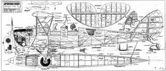 DH82a Tiger Moth 72in model airplane plan